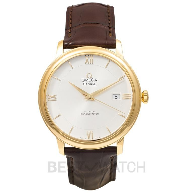 [NEW] Omega De Ville Prestige Co-Axial 39.5 mm Automatic Silver Dial Yellow Gold Men's Watch 424.53.40.20.02.002