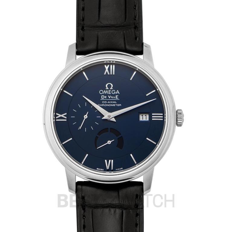 [NEW] Omega De Ville Prestige Co‑Axial Power Reserve 39.5mm Automatic Blue Dial Steel Men's Watch 424.13.40.21.03.001