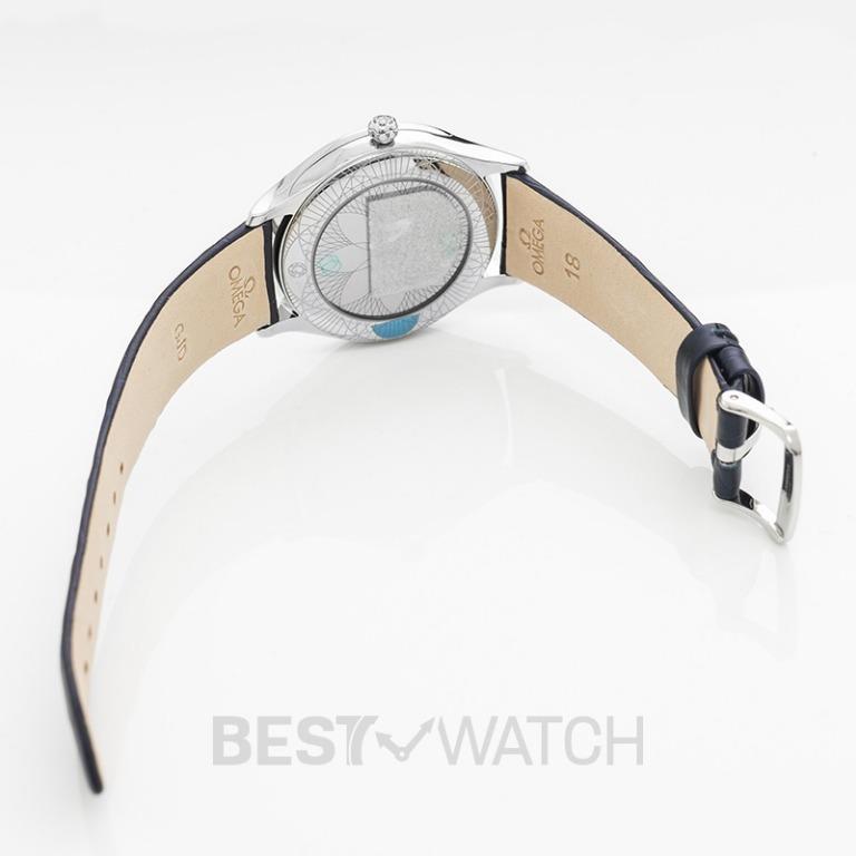[NEW] Omega De Ville Tresor Quartz 36mm Quartz Blue Dial Diamonds Ladies Watch 428.18.36.60.03.001