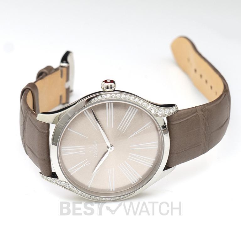 [NEW] Omega De Ville Tresor Quartz 39mm Quartz Grey Dial Steel Ladies Watch 428.18.39.60.13.001