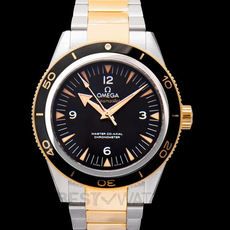 [NEW] Omega Seamaster 300 Master Co-Axial 41 mm Automatic Black Dial Yellow Gold Men's Watch 233.20.41.21.01.002