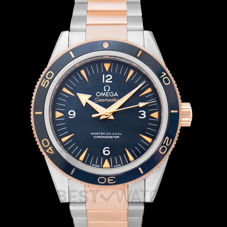 [NEW] Omega Seamaster 300 Master Co‑Axial 41 mm Automatic Blue Dial Titanium Gold Men's Watch 233.60.41.21.03.001