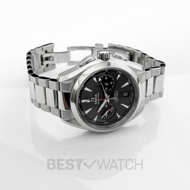 [NEW] Omega Seamaster Aqua Terra 150M Co‑Axial GMT Chronograph 43mm Automatic Grey Dial Steel Men's Watch 231.10.43.52.06.001