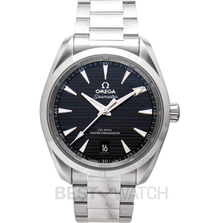 [NEW] Omega Seamaster Aqua Terra 150M Co-Axial Master Chronometer 38mm Automatic Black Dial Steel Men's Watch 220.10.38.20.01.001