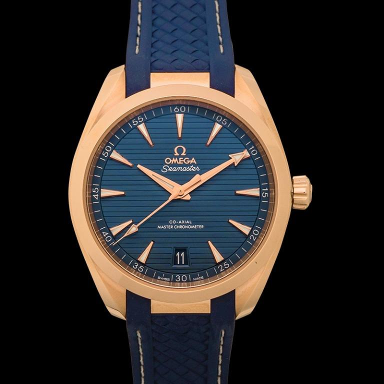 [NEW] Omega Seamaster Aqua Terra 150M Co-Axial Master Chronometer 41 mm Automatic Blue Dial Gold Men's Watch 220.52.41.21.03.001