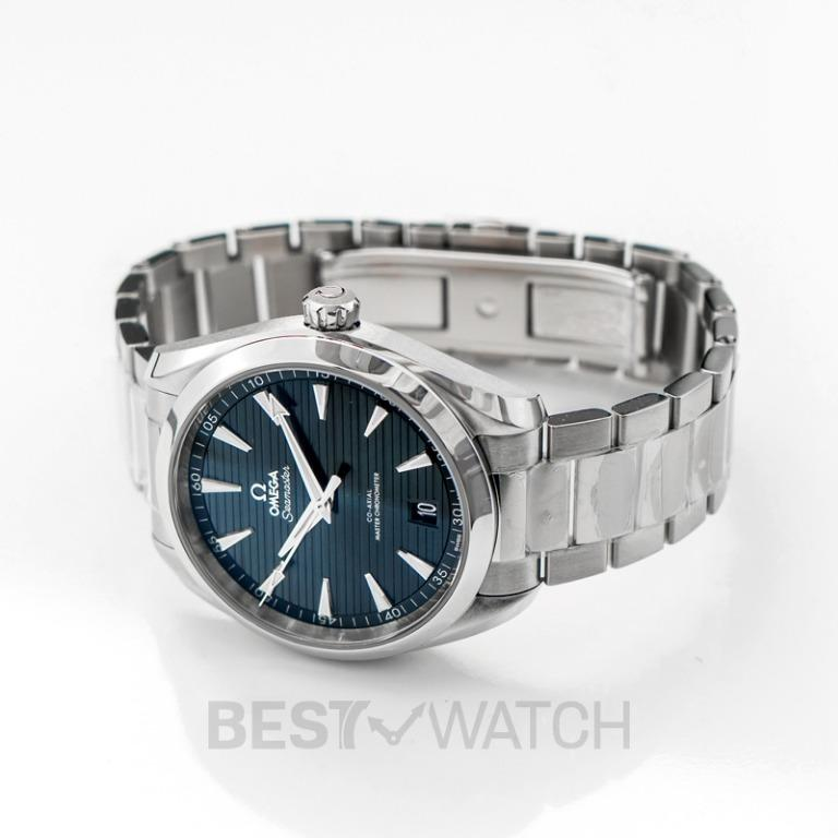 [NEW] Omega Seamaster Aqua Terra 150M Co-Axial Master Chronometer 41 mm Automatic Blue Dial Steel Men's Watch 220.10.41.21.03.004