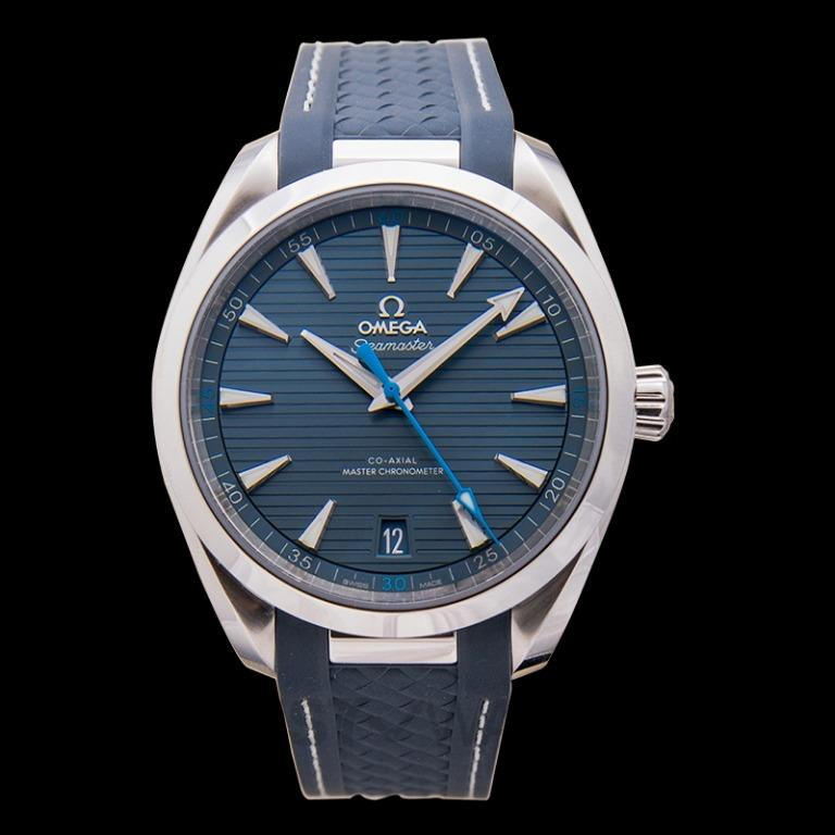 [NEW] Omega Seamaster Aqua Terra 150M Co‑Axial Master Chronometer 41 mm Automatic Blue Dial Steel Men's Watch 220.12.41.21.03.002