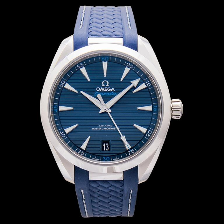 [NEW] Omega Seamaster Aqua Terra 150M Co-Axial Master Chronometer 41mm Automatic Blue Dial Steel Men's Watch 220.12.41.21.03.001