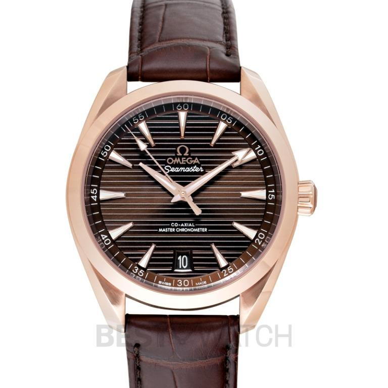 [NEW] Omega Seamaster Aqua Terra 150M Co-Axial Master Chronometer 41mm Automatic Brown Dial Gold Men's Watch 220.53.41.21.13.001