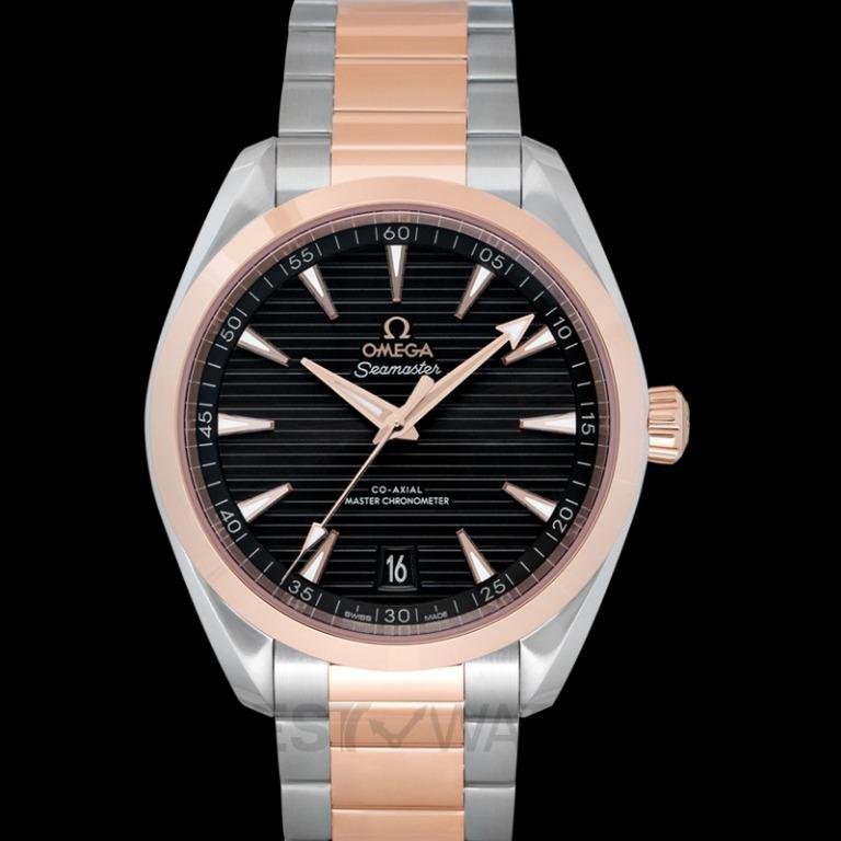 [NEW] Omega Seamaster Aqua Terra 150M Co-Axial Master Chronometer 41 mm Automatic Grey Dial Gold Men's Watch 220.20.41.21.06.001