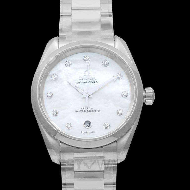 [NEW] Omega Seamaster Aqua Terra 150M Co-Axial Master Chronometer Ladies' 38mm Automatic White Mother Of Pearl Dial Diamonds Ladies Watch 220.10.38.20.55.001