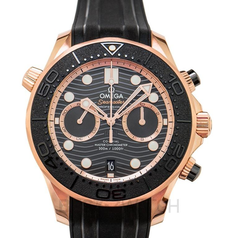[NEW] Omega Seamaster Co-Axial Master Chronometer Chronograph 44 mm Automatic Black Dial Gold Men's Watch 210.62.44.51.01.001