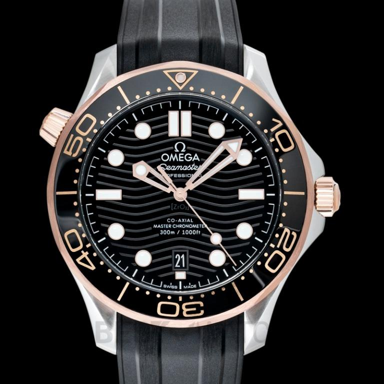 [NEW] Omega Seamaster Diver 300 M Co‑Axial Master Chronometer 42 mm Automatic Black Dial Gold Men's Watch 210.22.42.20.01.002