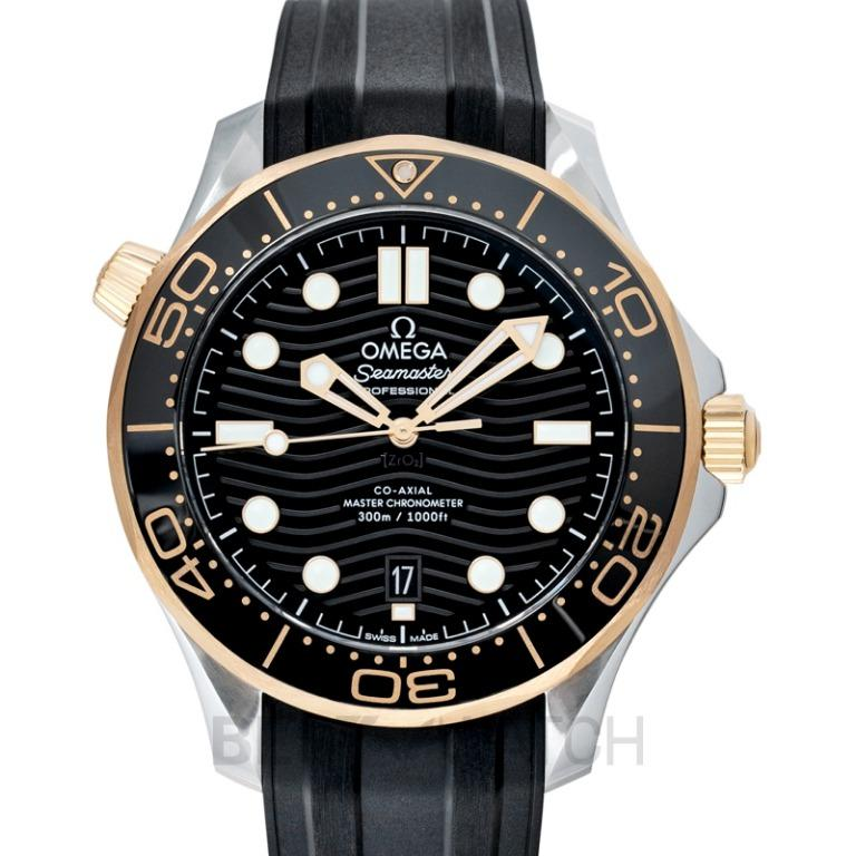 [NEW] Omega Seamaster Diver 300 M Co-Axial Master Chronometer 42mm Automatic Black Dial Yellow Gold Men's Watch 210.22.42.20.01.001