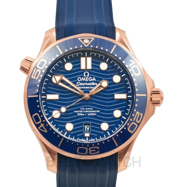 [NEW] Omega Seamaster Diver 300 M Co-Axial Master Chronometer 42 mm Automatic Blue Dial Sedna™ Gold Men's Watch 210.62.42.20.03.001