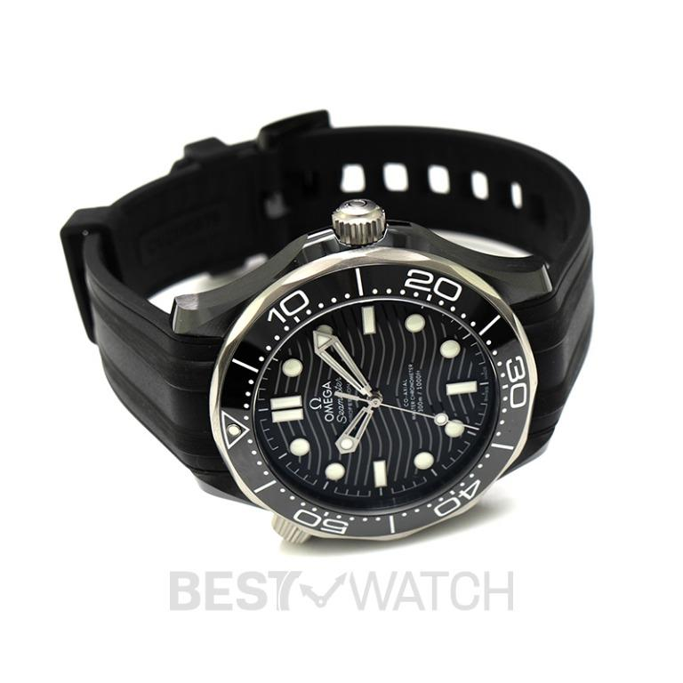 [NEW] Omega Seamaster Diver 300 M Co‑Axial Master Chronometer 43.5mm Automatic Black Dial Black Ceramic Men's Watch 210.92.44.20.01.002