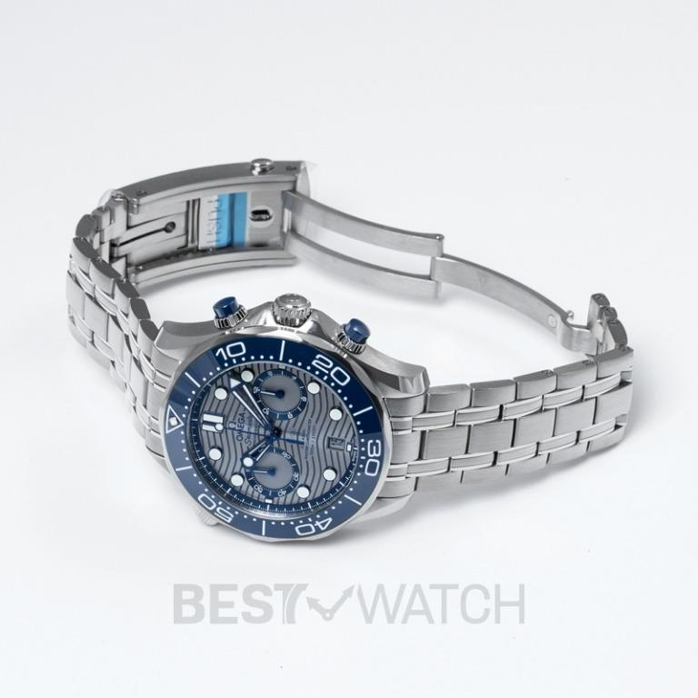 [NEW] Omega Seamaster Diver 300 M Co-Axial Master Chronometer Chronograph 44mm Automatic Grey Dial Steel Men's Watch 210.30.44.51.06.001