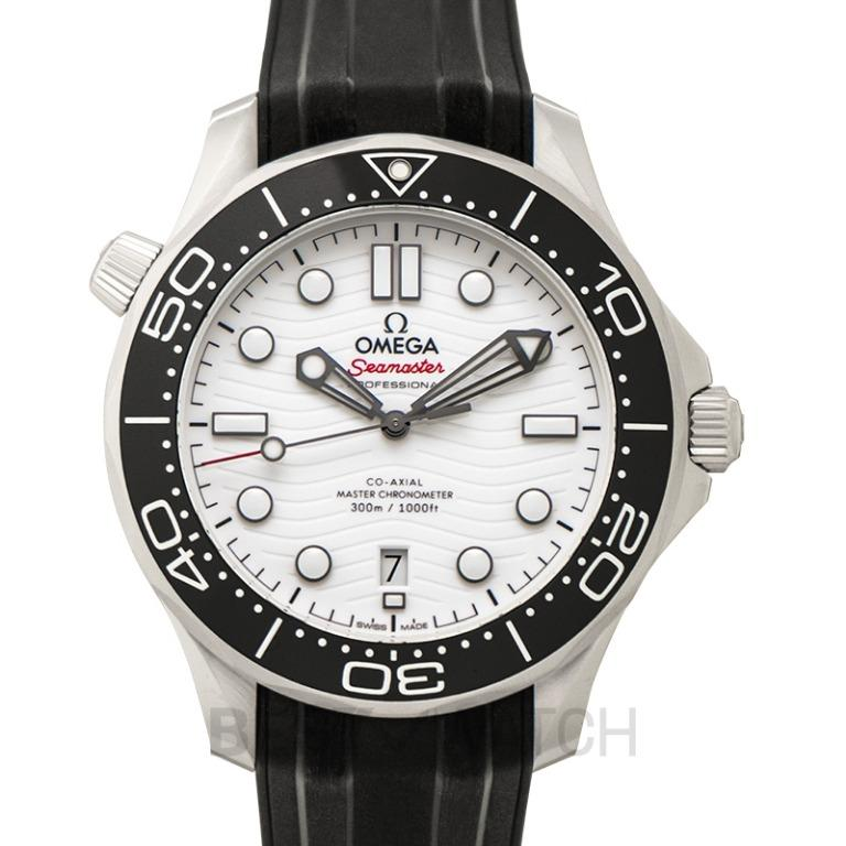 [NEW] Omega Seamaster Diver 300m Co-Axial Master Chronometer 42mm Automatic White Dial Steel Mens Watch 210.32.42.20.04.001