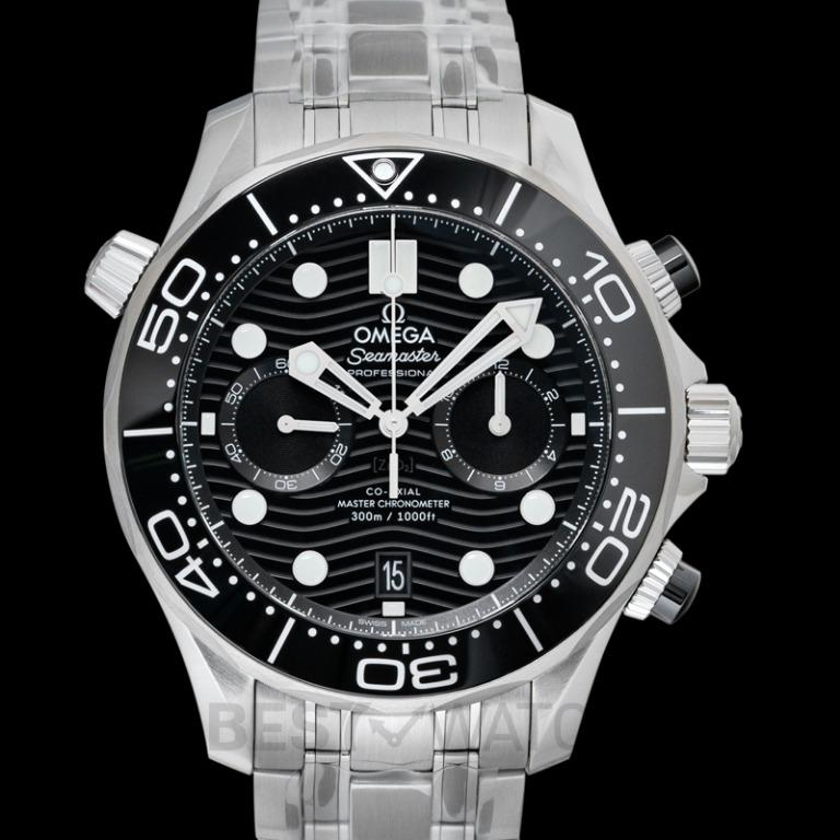 [NEW] Omega Seamaster Diver 300m Co-Axial Master Chronometer Chronograph 44mm Automatic Black Dial Steel Men's Watch 210.30.44.51.01.001