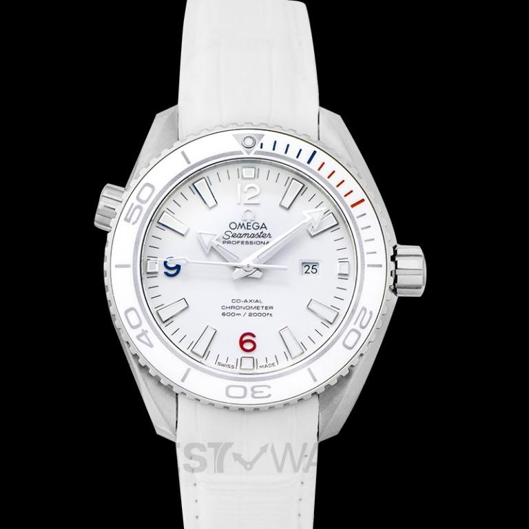 [NEW] Omega Seamaster Planet Ocean 600M Co-Axial 37.5MM Olympic Games Automatic White Dial Steel Men's Watch 522.33.38.20.04.001