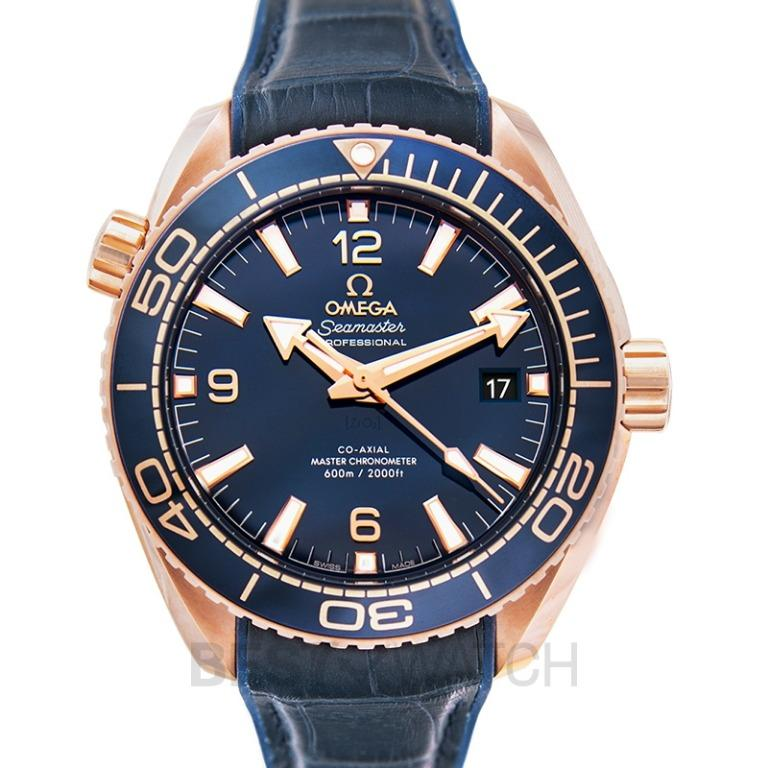 [NEW] Omega Seamaster Planet Ocean 600M Co‑Axial Master Chronometer 43.5 mm Automatic Blue Dial Gold Men's Watch 215.63.44.21.03.001