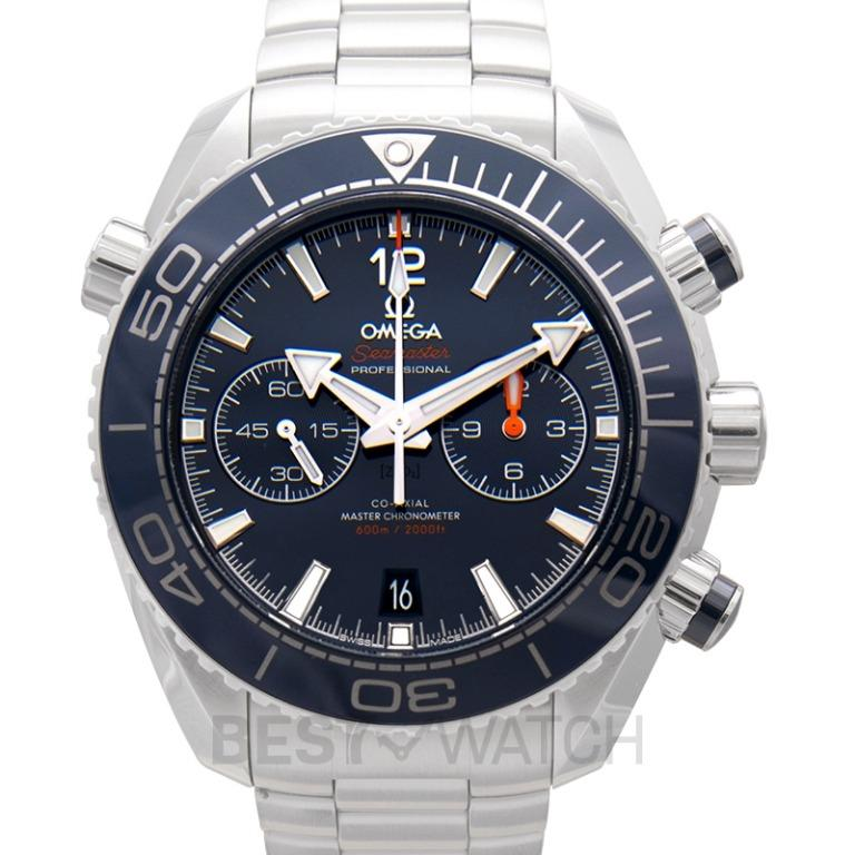 [NEW] Omega Seamaster Planet Ocean 600M Co-Axial Master Chronometer Chronograph 45.5mm Automatic Blue Dial Steel Men's Watch 215.30.46.51.03.001