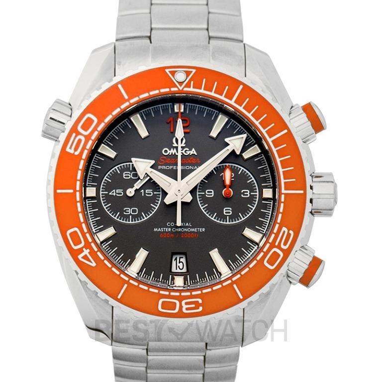 [NEW] Omega Seamaster Planet Ocean 600M Co-Axial Master Chronometer Chronograph 45.5 mm Automatic Grey Dial Steel Mens Watch 215.30.46.51.99.001