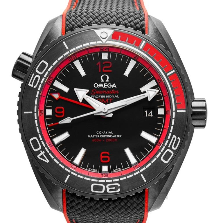 [NEW] Omega Seamaster Planet Ocean 600M Co-axial Master Chronometer GMT 45.5mm Automatic Black Dial Ceramic Men's Watch 215.92.46.22.01.003