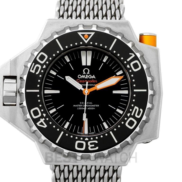 [NEW] Omega Seamaster Ploprof 1200M Co-Axial Master Chronometer 55x48mm Automatic Black Dial Titanium Men's Watch 227.90.55.21.01.001
