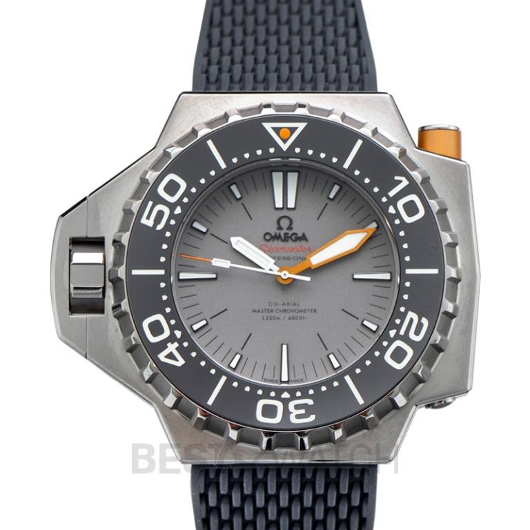 [NEW] Omega Seamaster Ploprof 1200M Co-Axial Master Chronometer 55 x 48 mm Automatic Grey Dial Titanium Men's Watch 227.90.55.21.99.001