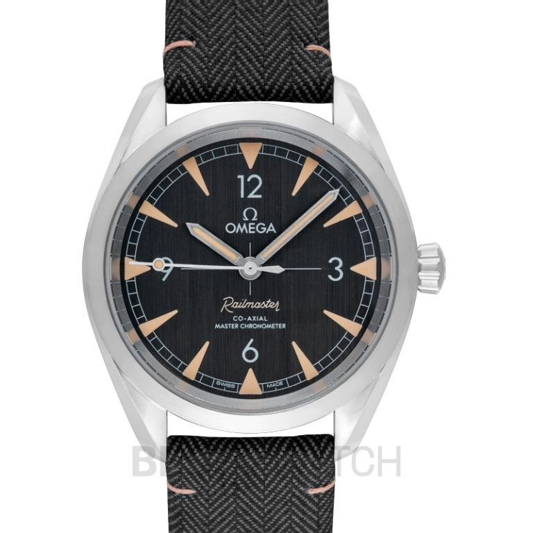 [NEW] Omega Seamaster Railmaster Co‑Axial Master Chronometer 40mm Automatic Black Dial Steel Men's Watch 220.12.40.20.01.001