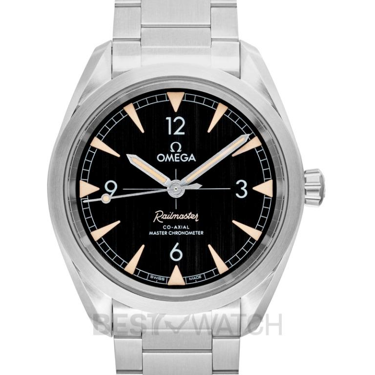 [NEW] Omega Seamaster Railmaster Co‑Axial Master Chronometer 40mm Automatic Black Dial Steel Men's Watch 220.10.40.20.01.001