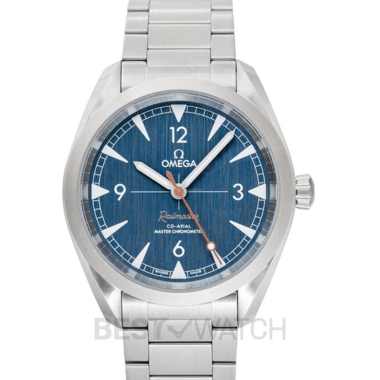 [NEW] Omega Seamaster Railmaster Co‑Axial Master Chronometer 40mm Automatic Blue Dial Steel Men's Watch 220.10.40.20.03.001