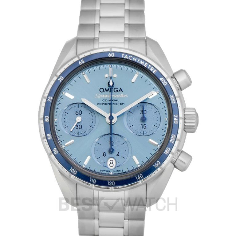 [NEW] Omega Speedmaster 38 mm Co‑Axial Chronograph 38 mm Automatic Blue Dial Steel Ladies Watch 324.30.38.50.03.001