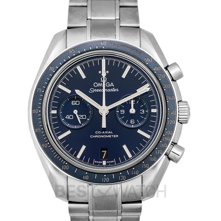 [NEW] Omega Speedmaster Moonwatch Co-Axial Chronograph 44.25mm Automatic Blue Dial Titanium Men's Watch 311.90.44.51.03.001