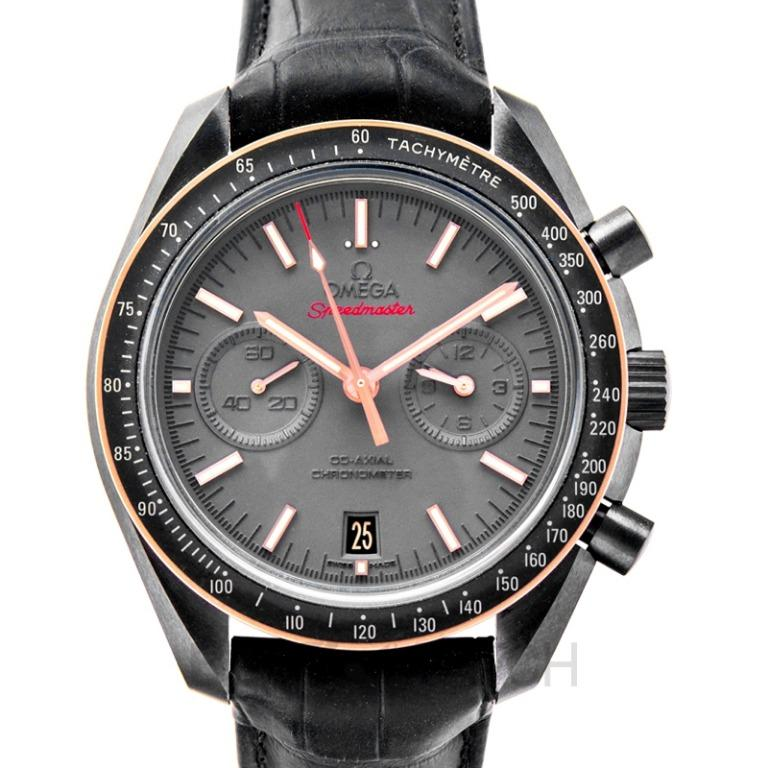 [NEW] Omega Speedmaster Moonwatch Co-Axial Chronograph 44.25mm Automatic Grey Dial Ceramic Men's Watch 311.63.44.51.06.001