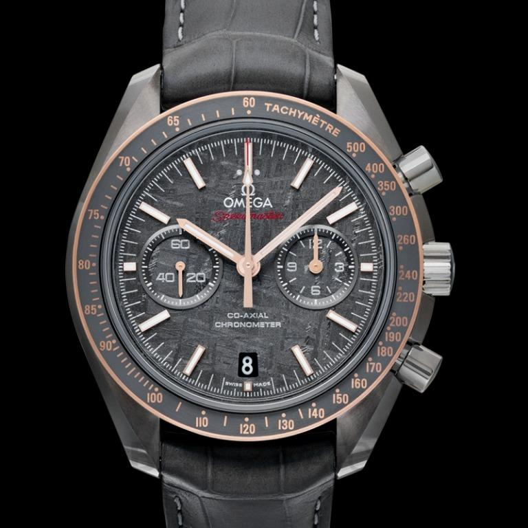 [NEW] Omega Speedmaster Moonwatch Co-Axial Chronograph 44.25 mm Automatic Grey Dial Grey Ceramic Men's Watch 311.63.44.51.99.001
