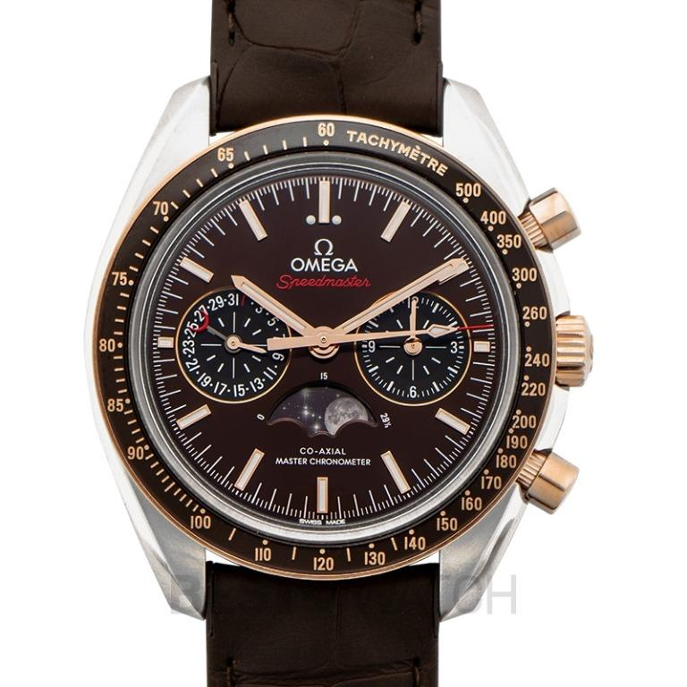 [NEW] Omega Speedmaster Moonwatch Co‑Axial Master Chronometer Moonphase Chronograph 44.25mm Automatic Brown Dial Gold Men's Watch 304.23.44.52.13.001