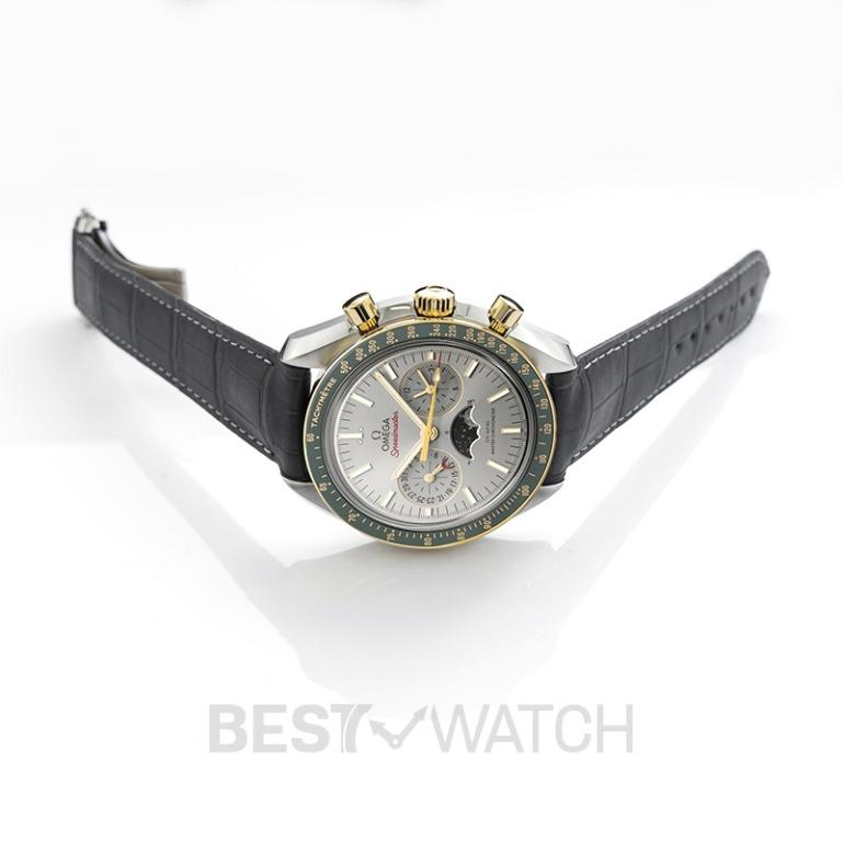 [NEW] Omega Speedmaster Moonwatch Co‑Axial Master Chronometer Moonphase Chronograph 44.25mm Automatic Grey Dial Yellow Gold Men's Watch 304.23.44.52.06.001