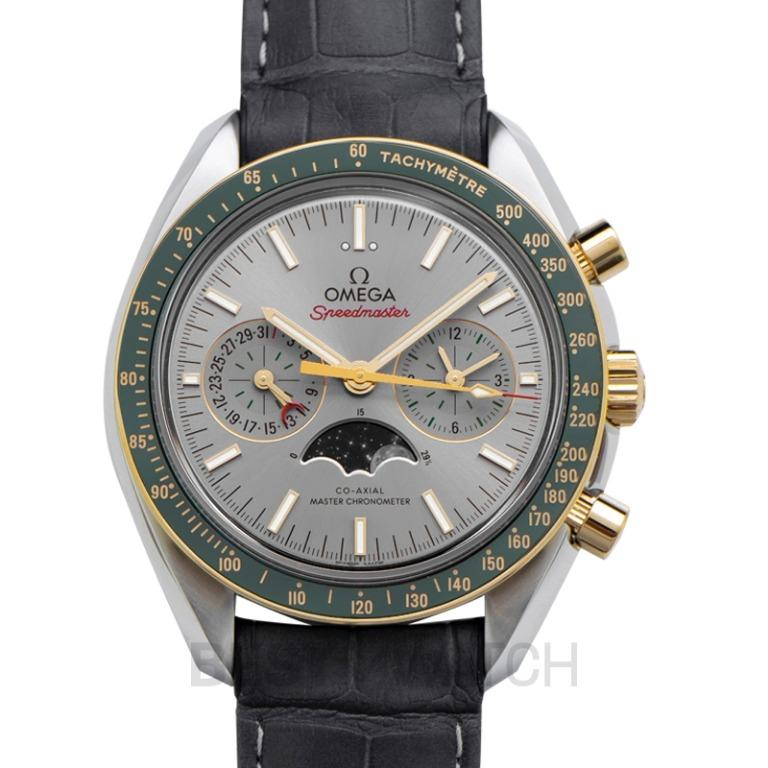 [NEW] Omega Speedmaster Moonwatch Co-Axial Master Chronometer Moonphase Chronograph 44.25 mm Automatic Grey Dial Yellow Gold Men's Watch 304.23.44.52.06.001