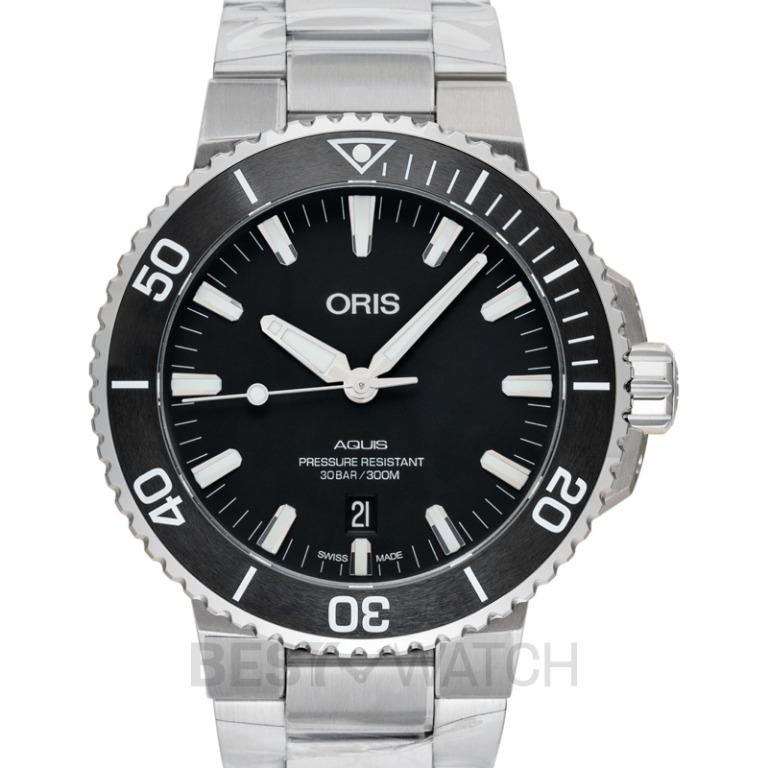 [NEW] Oris Aquis Date Automatic Black Dial Bracelet Men's Watch 01 733 7730 4124-07 8 24 05EB