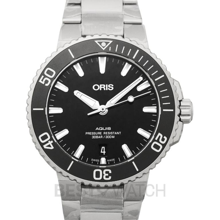 [NEW] Oris Aquis Date Automatic Black Dial Bracelet Men's Watch 01 733 7732 4134-07 8 21 05PEB