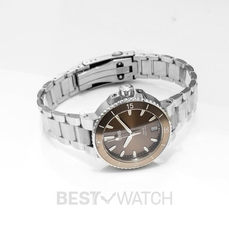 [NEW] Oris Aquis Date Automatic Brown Dial Bracelet Ladies Watch 01 733 7731 4156-07 8 18 05P