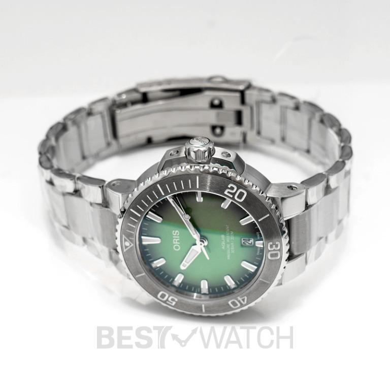 [NEW] Oris Aquis Date Automatic Green Dial Bracelet Men's Watch 01 733 7732 4137-07 8 21 05PEB