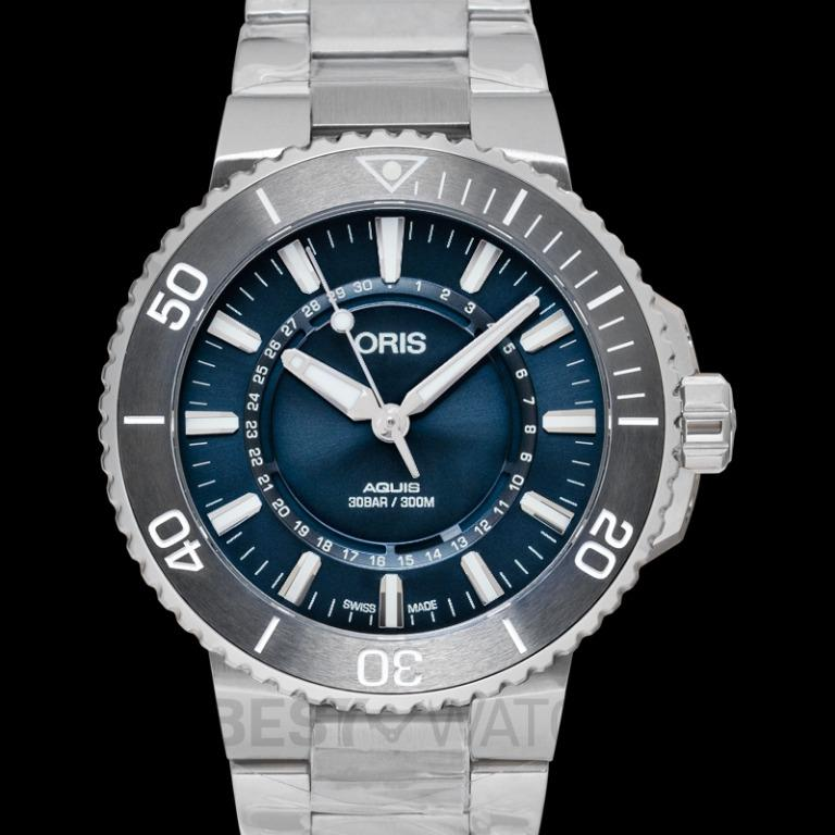 [NEW] Oris Aquis Source of Life Limited Edition Automatic Blue Dial Men's Watch 01 733 7730 4125-SET MB