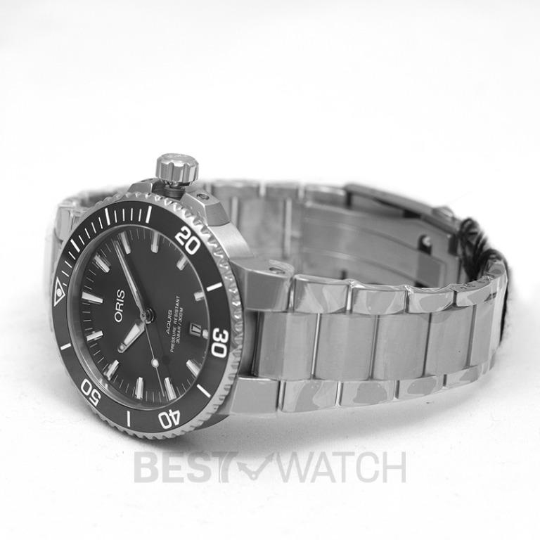 [NEW] Oris Aquis Titanium Date Automatic Grey Dial Men's Watch 01 733 7730 7153-07 8 24 15PEB