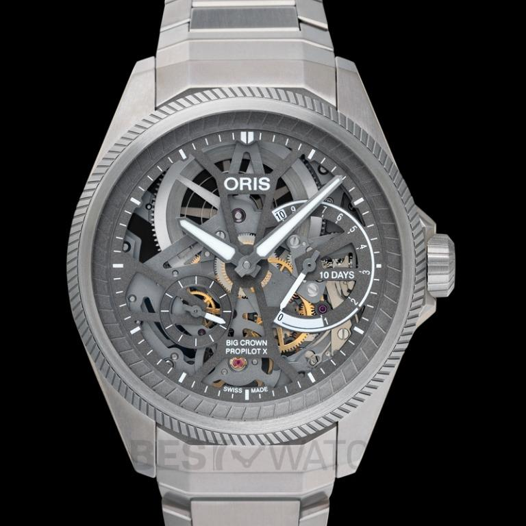 [NEW] Oris  Big Crown ProPilot X Calibre 115 Manual-winding Skeleton Dial Mens Watch 01 115 7759 7153-Set7 22 01TLC