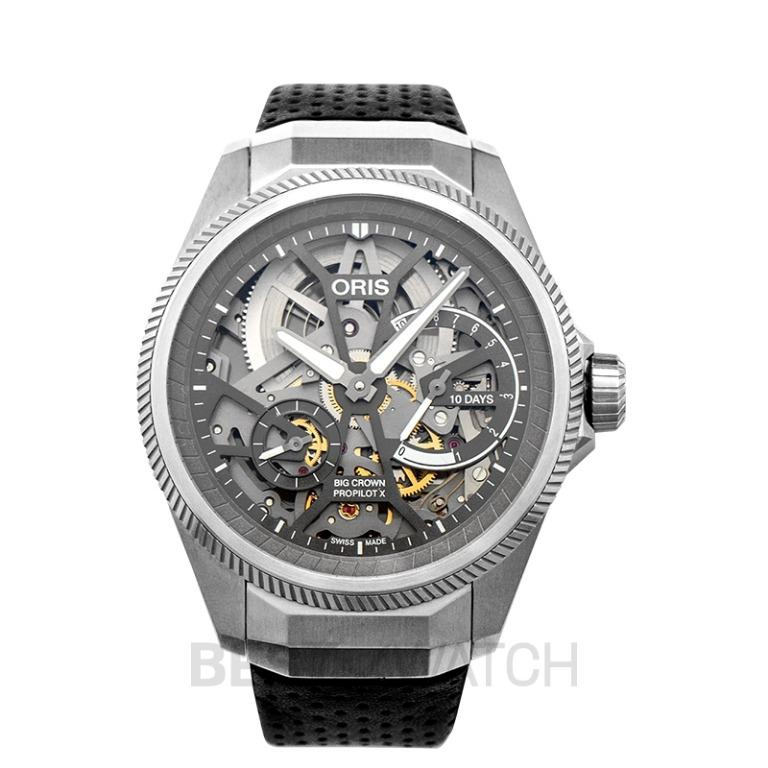 [NEW] Oris Big Crown ProPilot X Calibre 115 Manual-winding Skeleton Dial Strap Men's Watch 01 115 7759 7153-Set5 22 04TLC