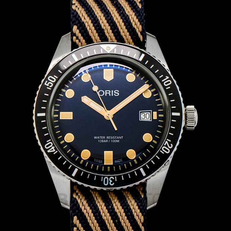 [NEW] Oris Divers Sixty-Five Automatic Blue Dial Strap Men's Watch 01 733 7720 4035-07 5 21 13