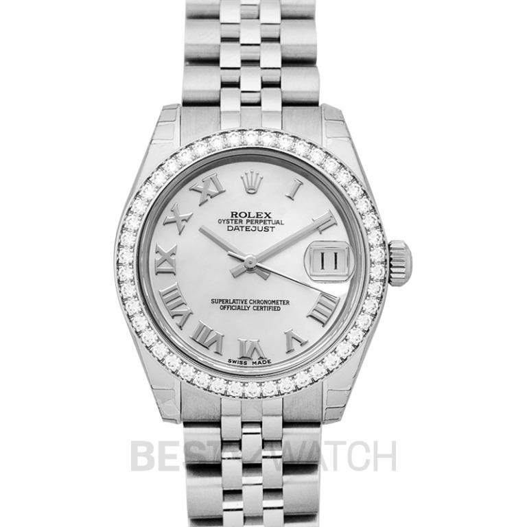 [NEW] Rolex Datejust 31 Steel And 18ct White Gold Automatic Mother Of Pearl Dial Ladies Watch 178384-0012